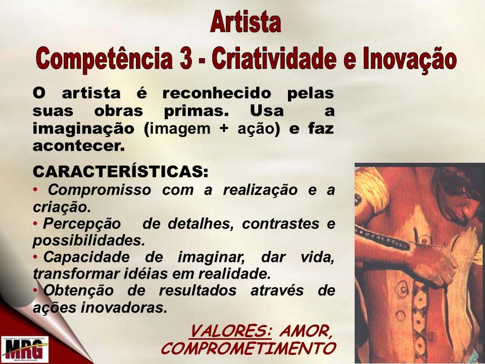 O artista é reconhecido pelas suas obras primas.