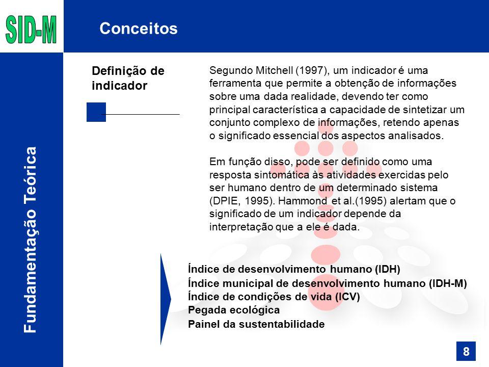 Segundo Mitchell (1997), um indicador é uma ferramenta que permite a obtenção de informações sobre uma dada realidade, devendo ter como principal cara