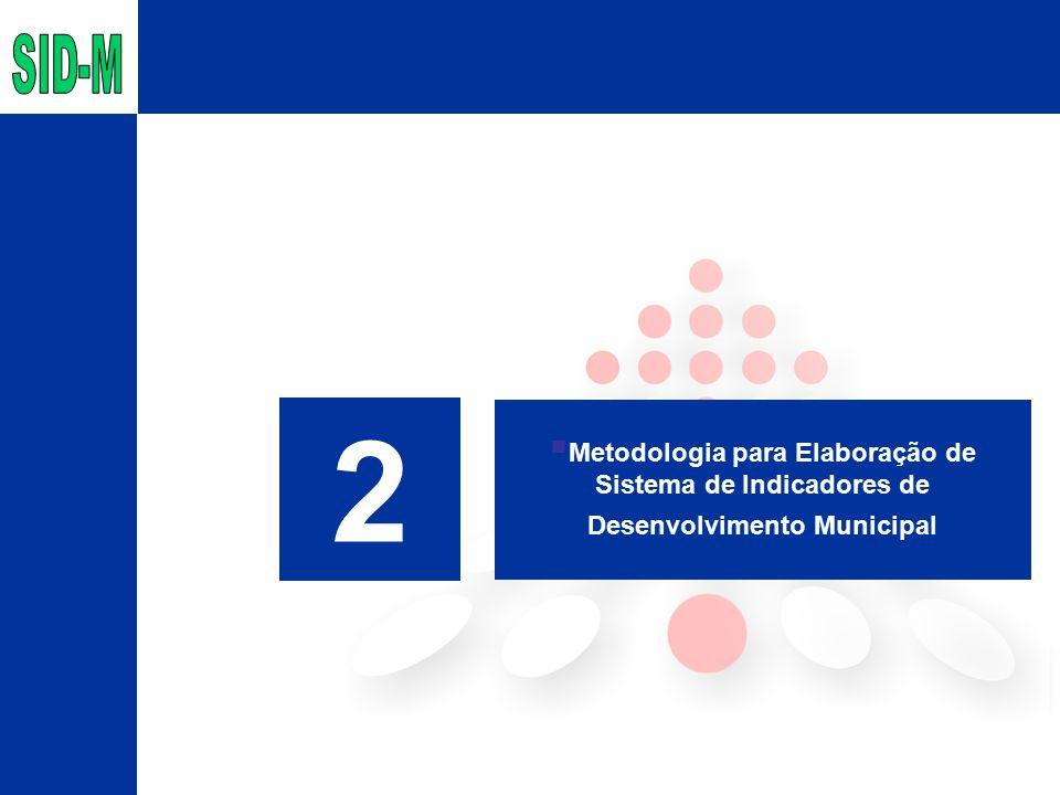 2  Metodologia para Elaboração de Sistema de Indicadores de Desenvolvimento Municipal