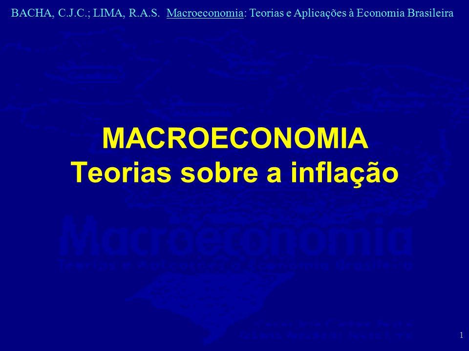 BACHA, C.J.C.; LIMA, R.A.S. Macroeconomia: Teorias e Aplicações à Economia Brasileira 1 MACROECONOMIA Teorias sobre a inflação