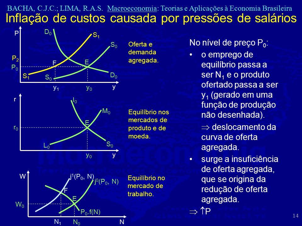 BACHA, C.J.C.; LIMA, R.A.S. Macroeconomia: Teorias e Aplicações à Economia Brasileira 14 No nível de preço P 0 : o emprego de equilíbrio passa a ser N