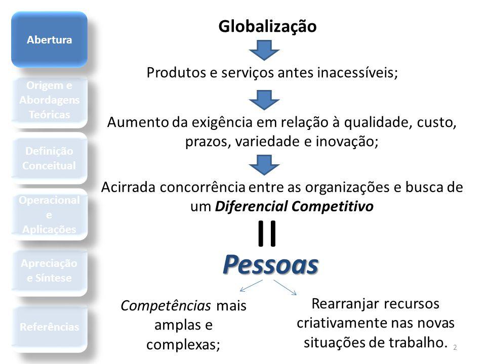 Globalização 2 Produtos e serviços antes inacessíveis; Aumento da exigência em relação à qualidade, custo, prazos, variedade e inovação; Acirrada conc