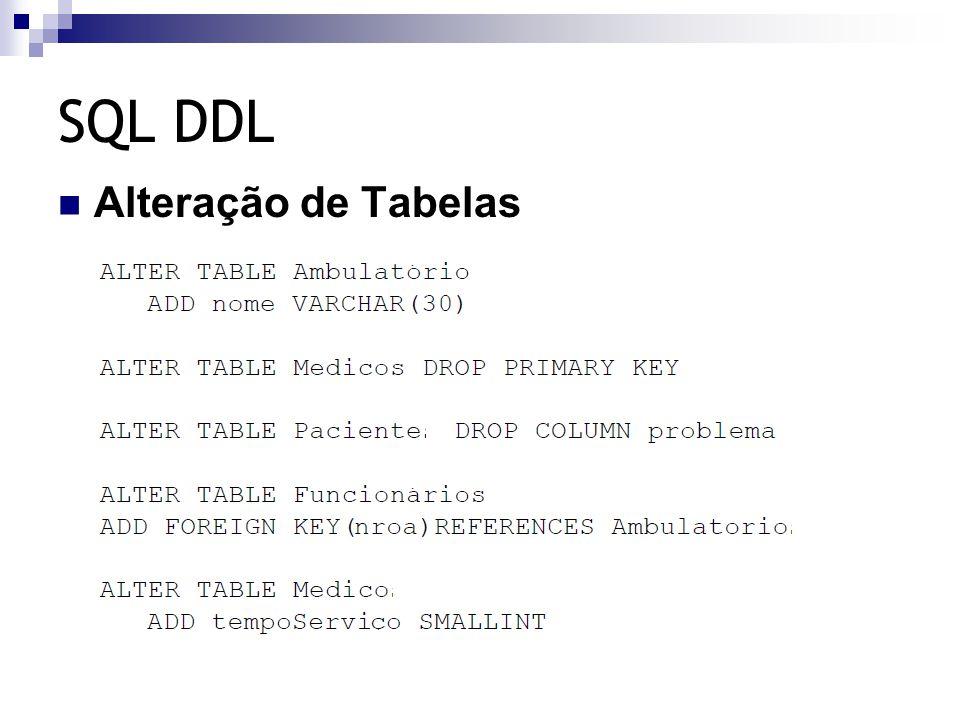 SQL DDL Alteração de Tabelas