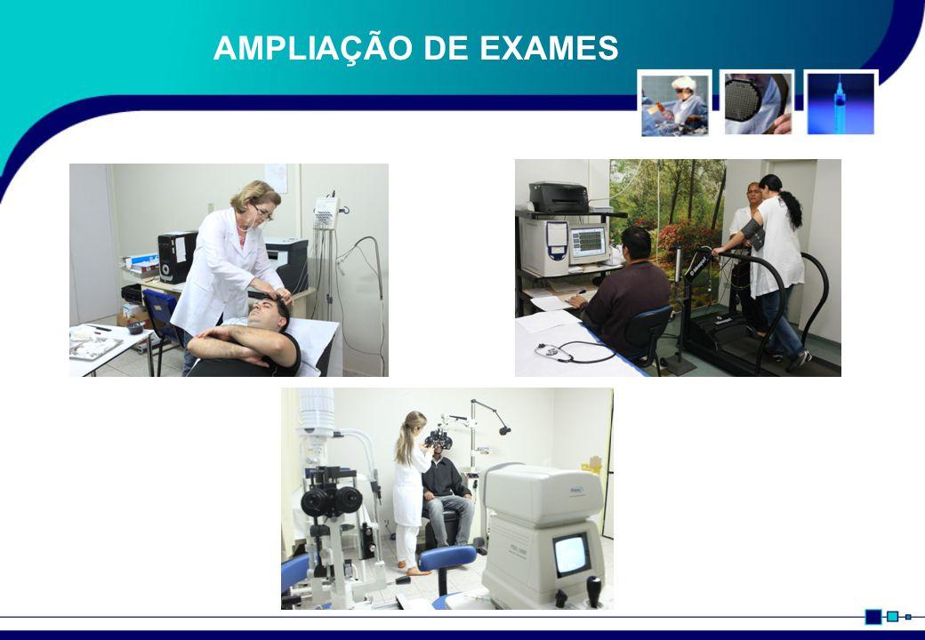 AMPLIAÇÃO DE EXAMES