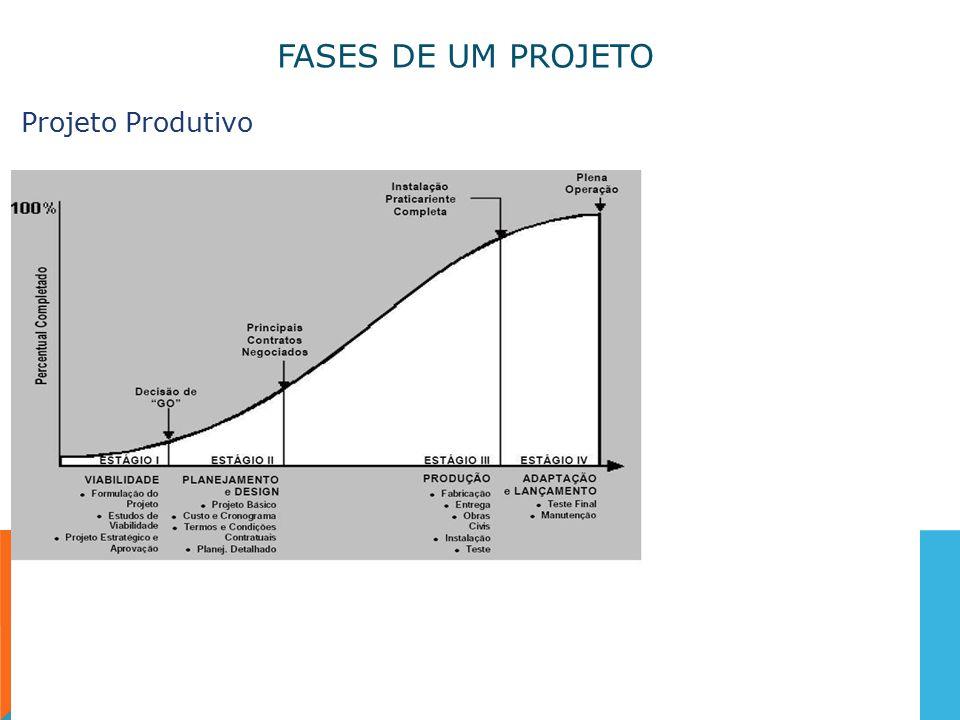 FASES DE UM PROJETO Projeto Produtivo