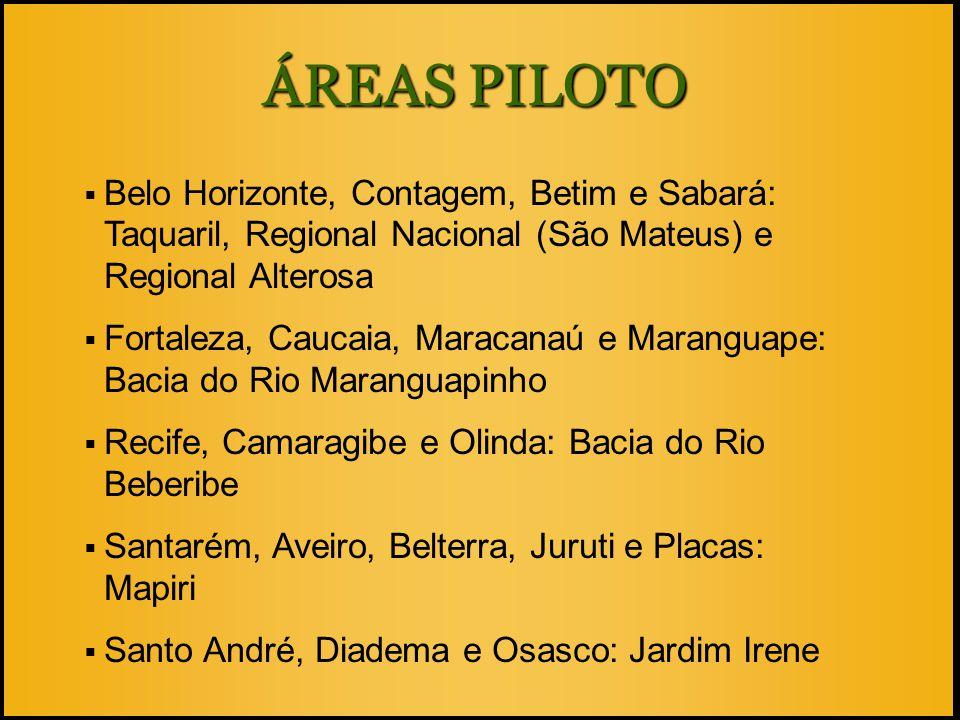  Belo Horizonte, Contagem, Betim e Sabará: Taquaril, Regional Nacional (São Mateus) e Regional Alterosa  Fortaleza, Caucaia, Maracanaú e Maranguape: