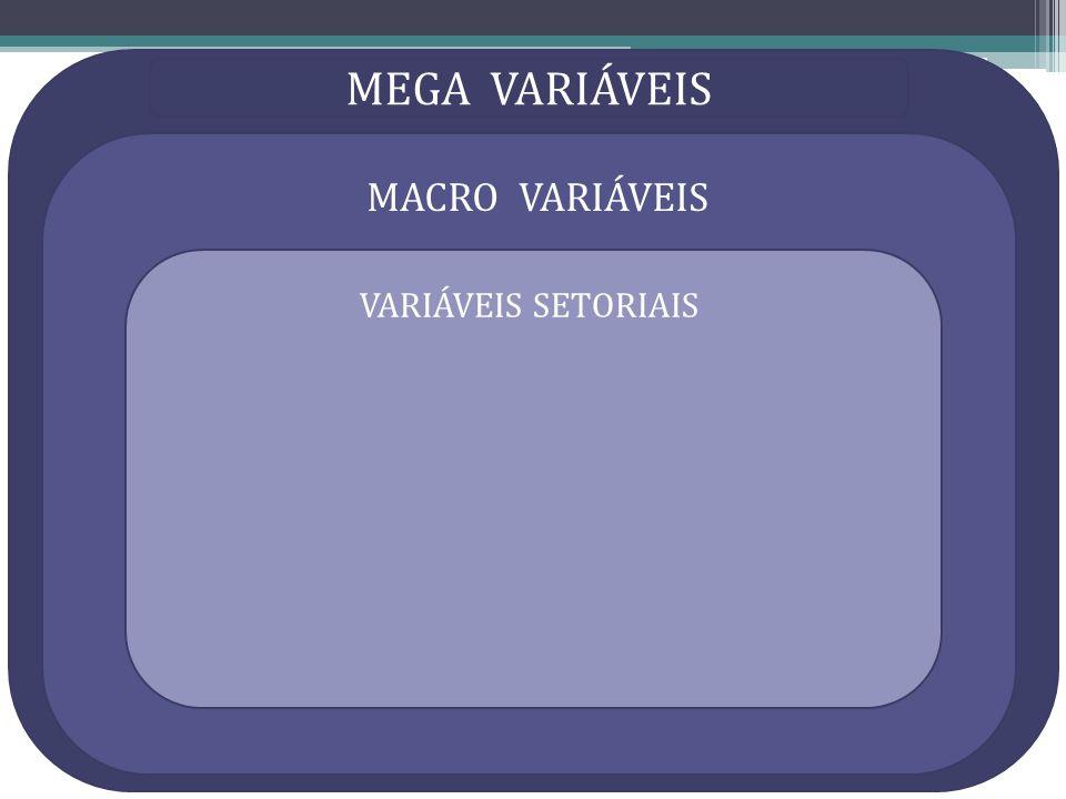 MEGA VARIÁVEIS MACRO VARIÁVEIS VARIÁVEIS SETORIAIS
