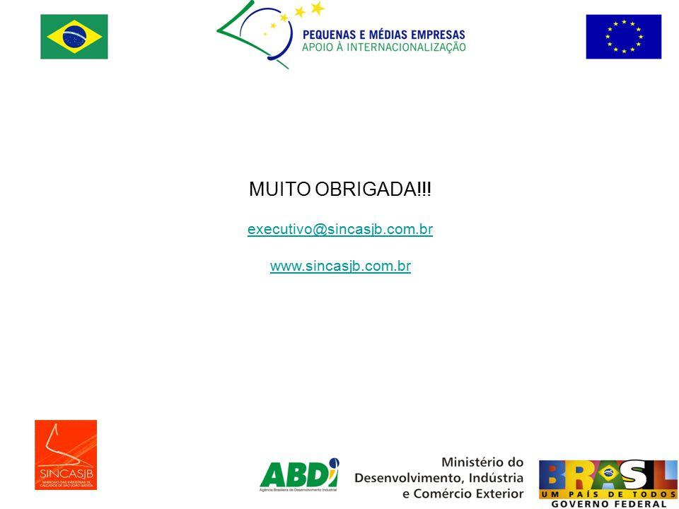 MUITO OBRIGADA!!! executivo@sincasjb.com.br www.sincasjb.com.br