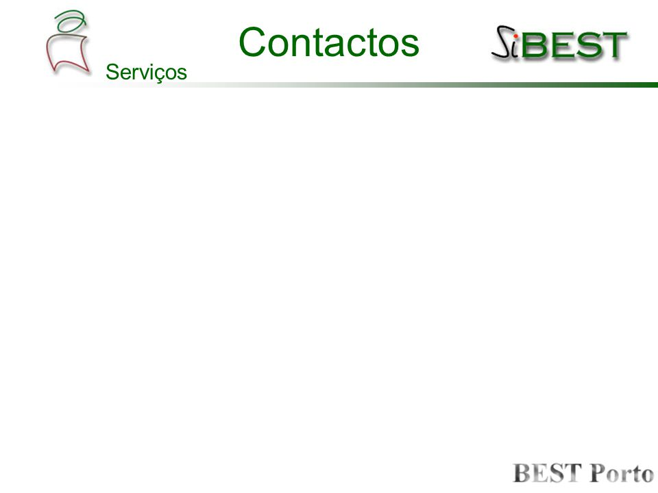 Contactos Serviços