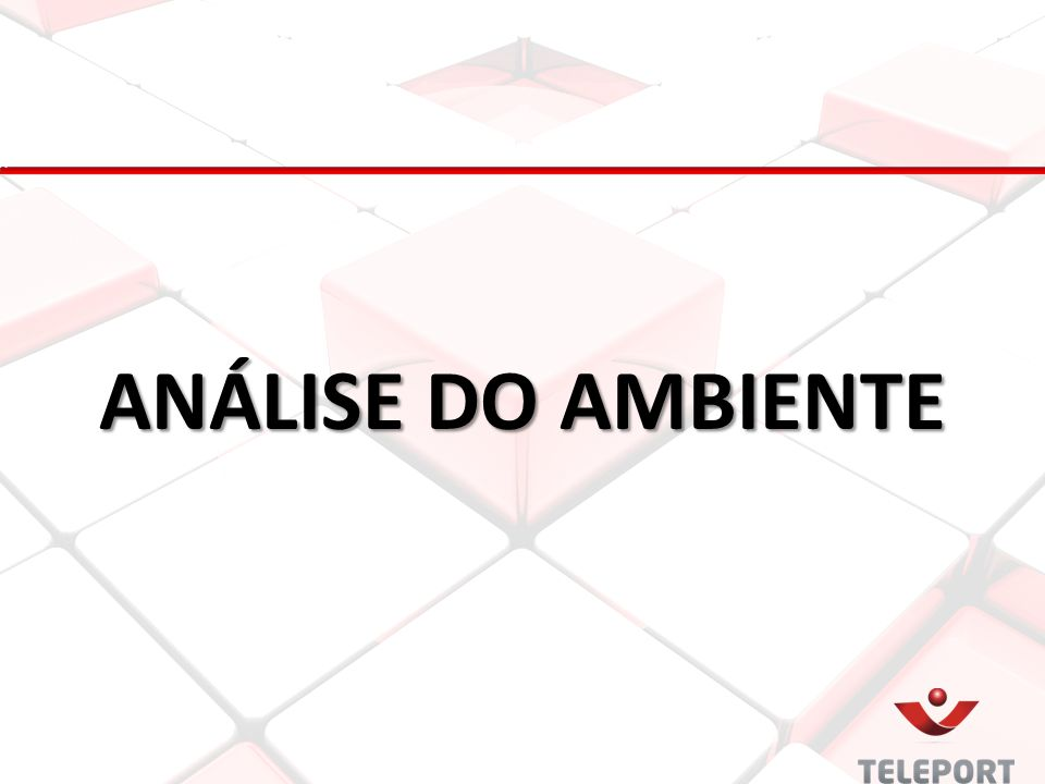 ANÁLISE DO AMBIENTE