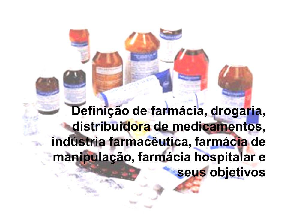 DEFINIÇÕES Lei Federal 5991/73  Droga - substância ou matéria-prima que tenha a finalidade medicamentosa ou sanitária;  Medicamento - produto farmacêutico, tecnicamente obtido ou elaborado, com finalidade profilática, curativa, paliativa ou para fins de diagnóstico;  Dispensação - ato de fornecimento ao consumidor de drogas, medicamentos, insumos farmacêuticos e correlatos, a título remunerado ou não;