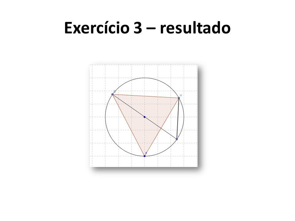 Exercício 3 – resultado