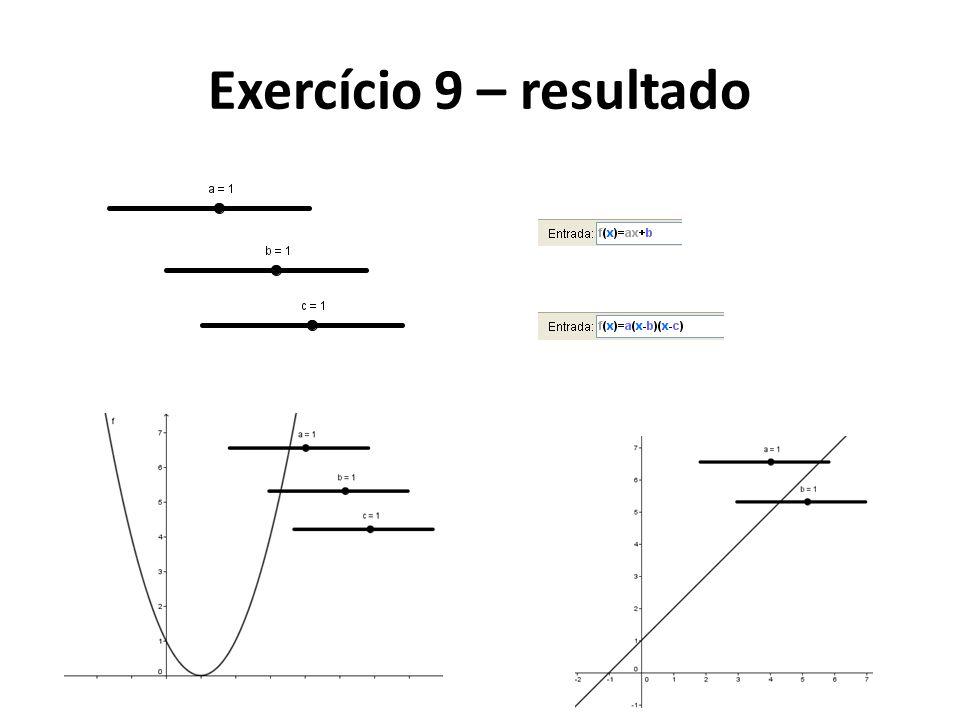 Exercício 9 – resultado