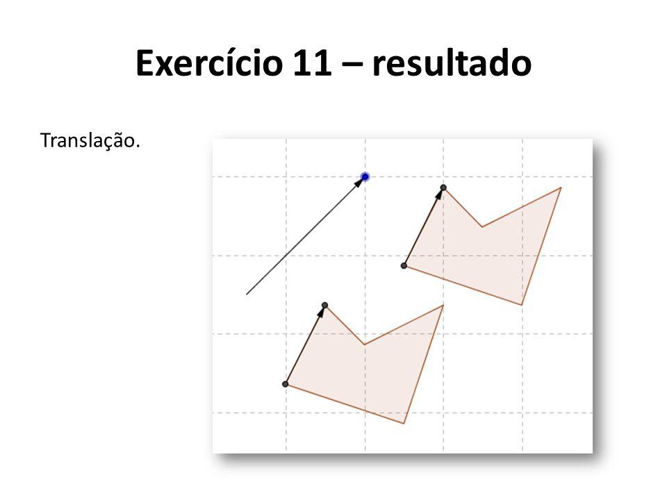 Translação. Exercício 11 – resultado