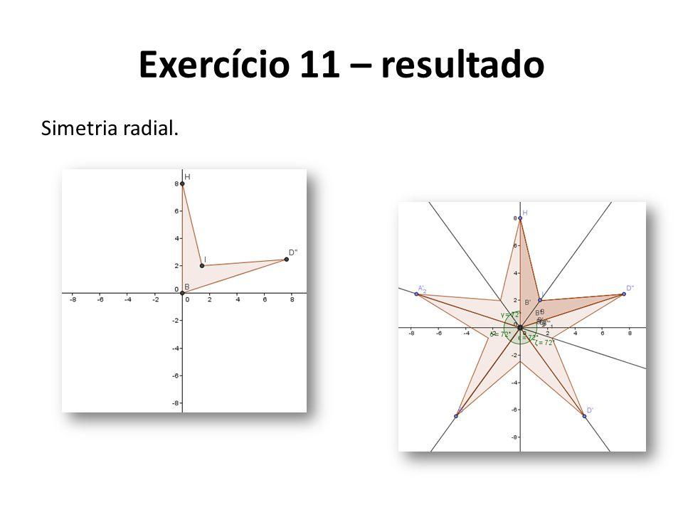 Exercício 11 – resultado Simetria radial.