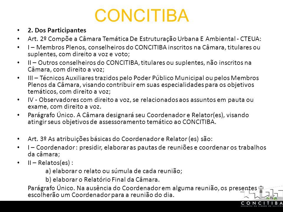 CONCITIBA 2. Dos Participantes Art.