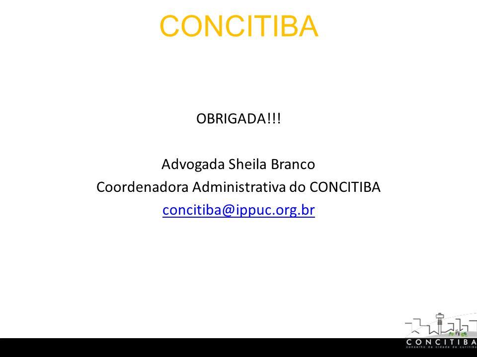 CONCITIBA OBRIGADA!!.