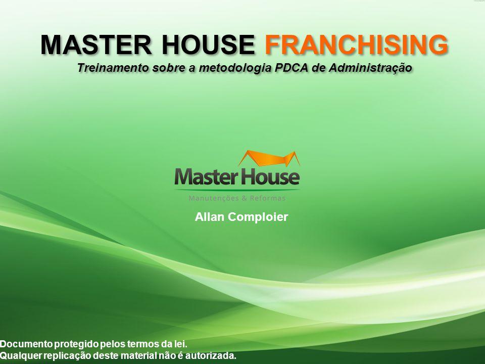 MASTER HOUSE FRANCHISING Treinamento sobre a metodologia PDCA de Administração MASTER HOUSE FRANCHISING Treinamento sobre a metodologia PDCA de Administração Documento protegido pelos termos da lei.
