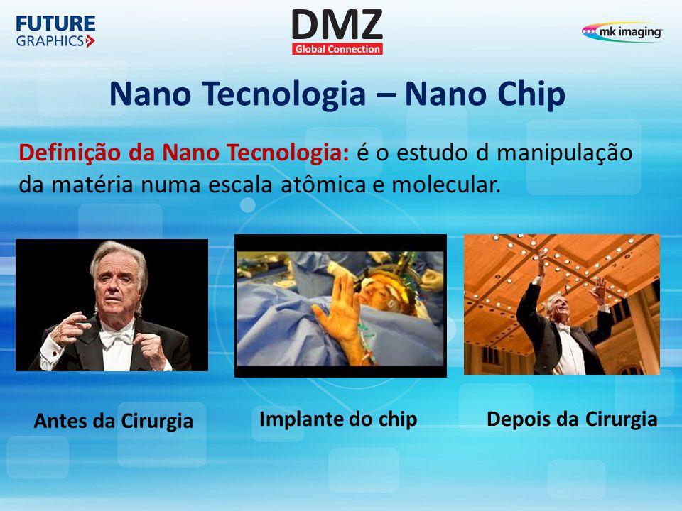Nano Tecnologia – Nano Chip Definição da Nano Tecnologia: é o estudo d manipulação da matéria numa escala atômica e molecular. Antes da Cirurgia Depoi