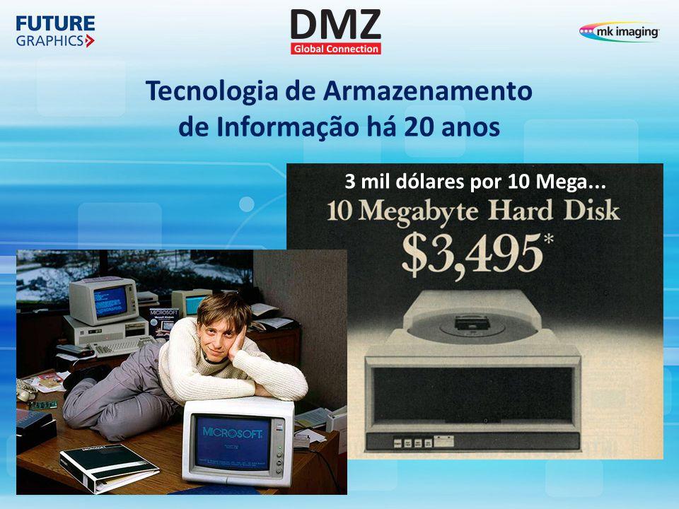 Tecnologia de Armazenamento de Informação há 20 anos 3 mil dólares por 10 Mega...