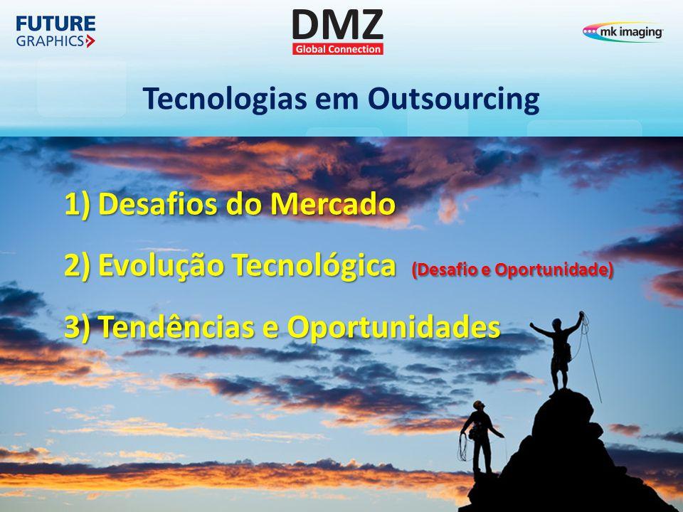 Tecnologias em Outsourcing 1)Desafios do Mercado 2)Evolução Tecnológica (Desafio e Oportunidade) 3)Tendências e Oportunidades