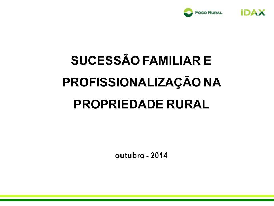 SUCESSÃO FAMILIAR E PROFISSIONALIZAÇÃO NA PROPRIEDADE RURAL outubro - 2014