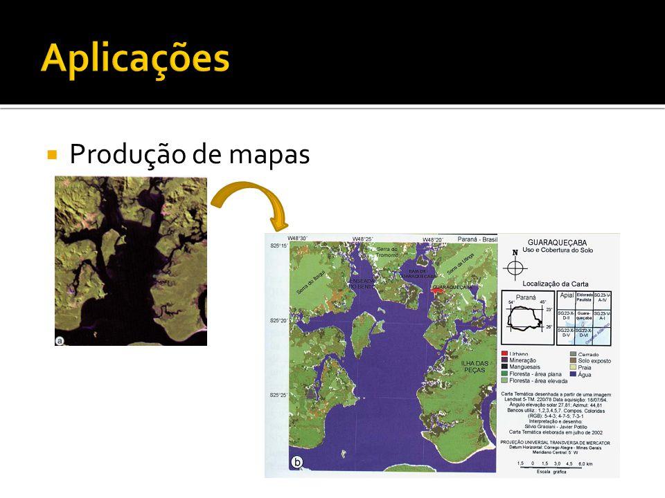 Produção de mapas