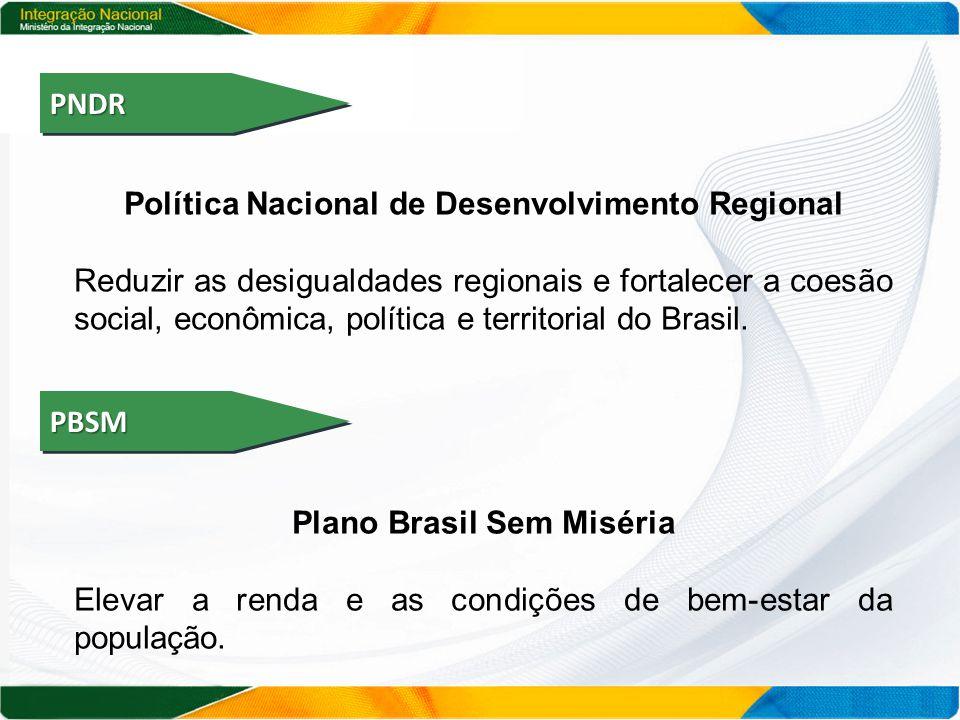 PNDRPNDR Política Nacional de Desenvolvimento Regional Reduzir as desigualdades regionais e fortalecer a coesão social, econômica, política e territorial do Brasil.