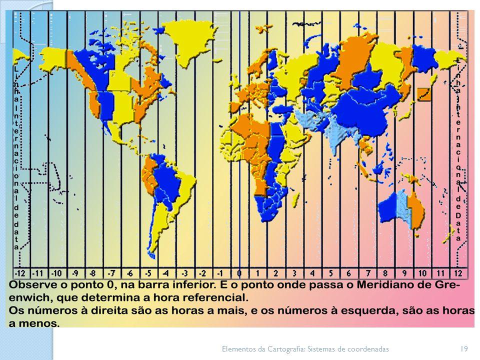 Elementos da Cartografia: Sistemas de coordenadas19