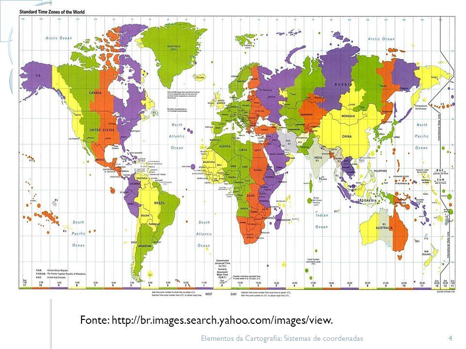 Unidade transversa de Mercator Elementos da Cartografia: Sistemas de coordenadas15
