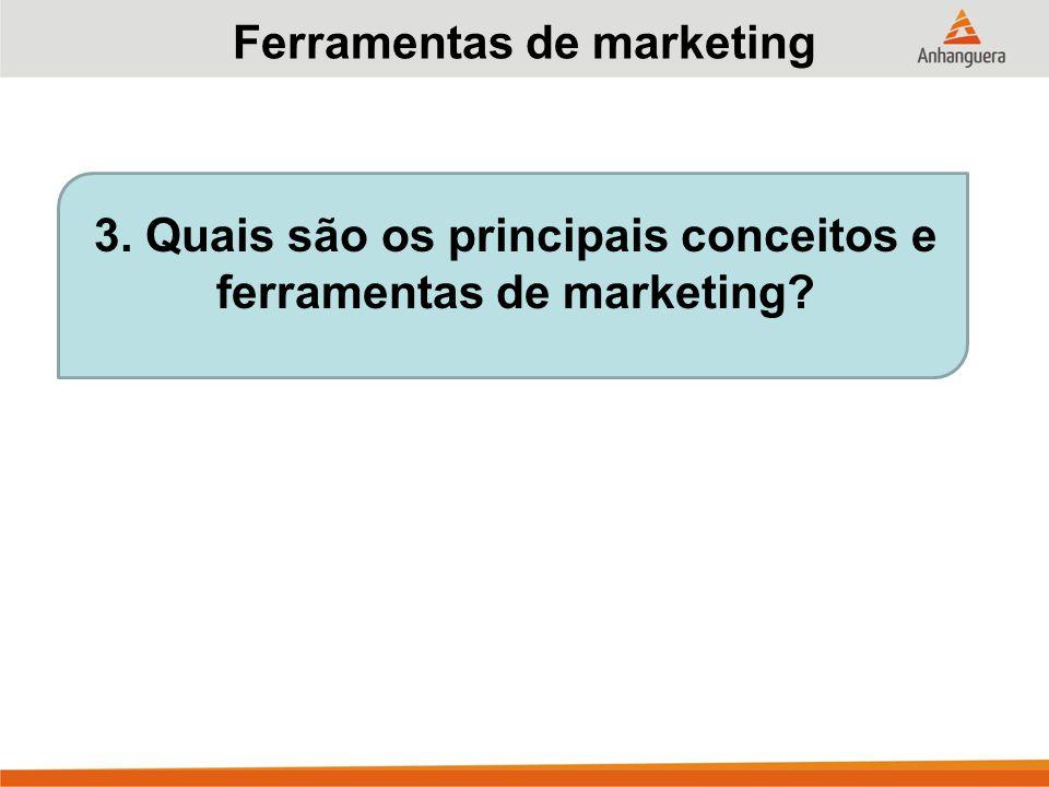 3. Quais são os principais conceitos e ferramentas de marketing? Ferramentas de marketing