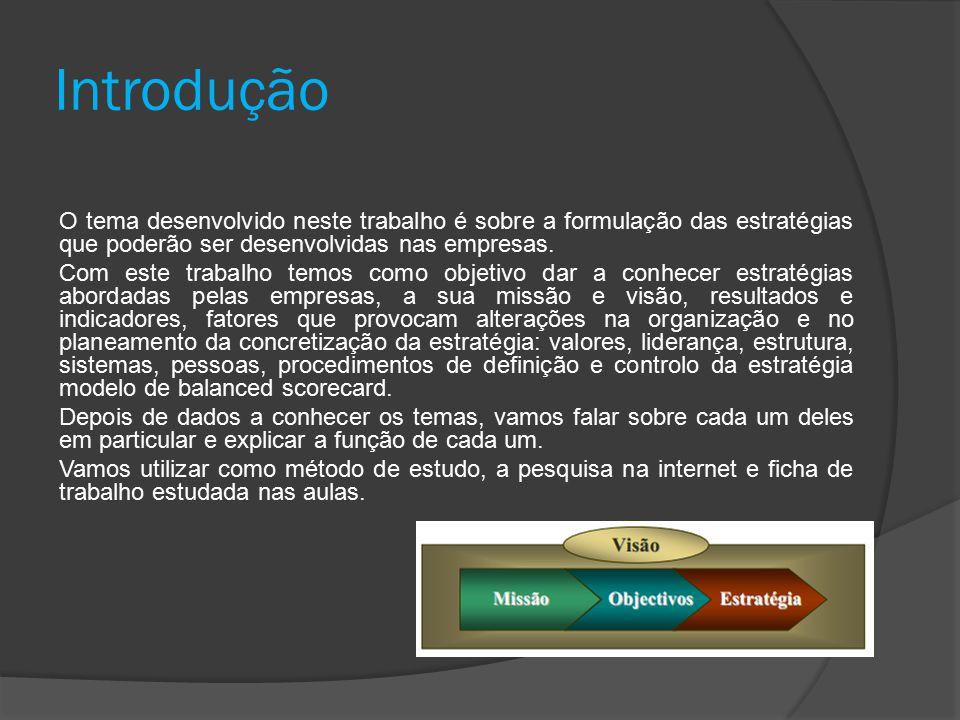 Definição A Formulação Estratégica apresenta as principais correntes de pensamento sobre a formulação estratégica na organização contemporânea.