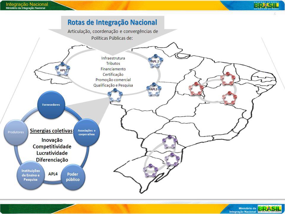 Passo 1: Definição Territorial  Prioridade: Semiárido, Amazônia, Faixa de Fronteira - Articulação Superintendências: SUDENE, SUDAM e SUDECO - Sinalização dos Estados: avanço nas discussões da I CNDR - PNDR (tipologia em revisão) e Mapa da Pobreza e Desigualdade (IBGE) Estratégia de implementação: