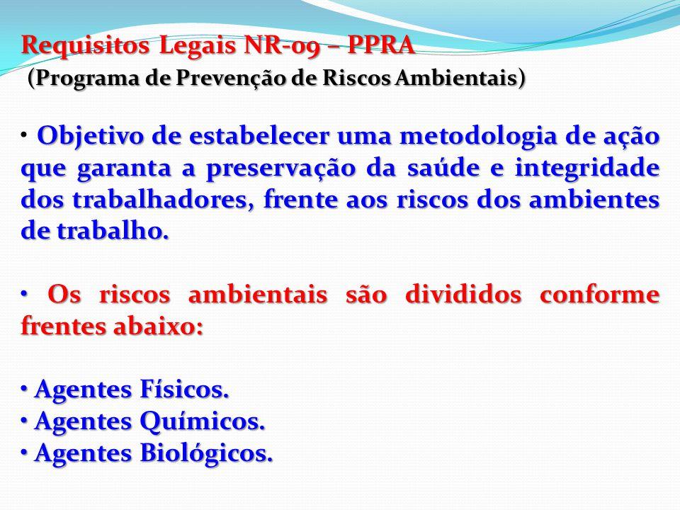 Requisitos Legais NR-07 – PCMSO (Programa de Controle Médico de Saúde Ocupacional) O PCMSOmonitora por exames laboratoriais a saúde dos trabalhadores.