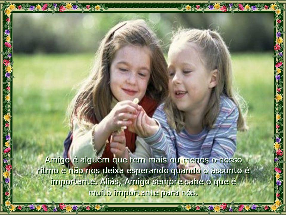 Amigo é alguém que está envolvido com os nossos ideais e serve de alavanca para que, juntos, os realizemos. Amigo é alguém que está envolvido com os n