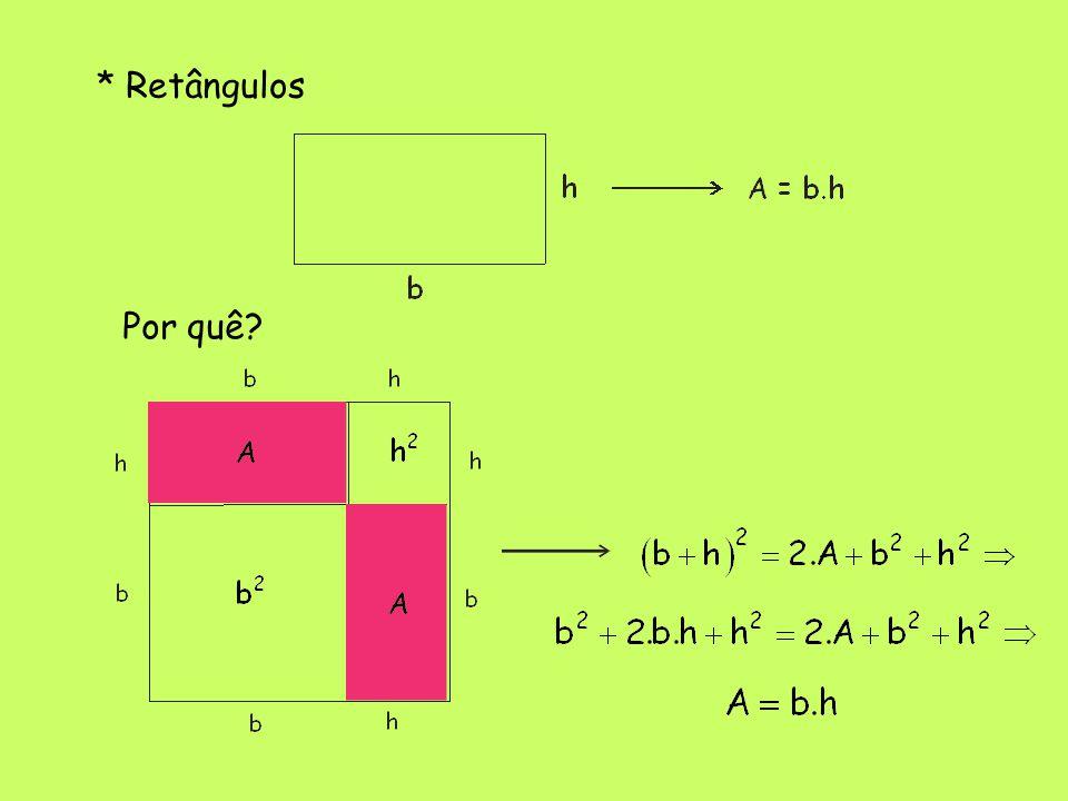 * Retângulos Por quê?