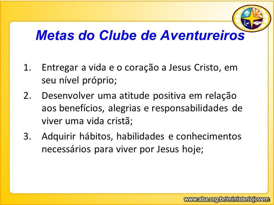 1.Entregar a vida e o coração a Jesus Cristo, em seu nível próprio; 2.Desenvolver uma atitude positiva em relação aos benefícios, alegrias e responsab