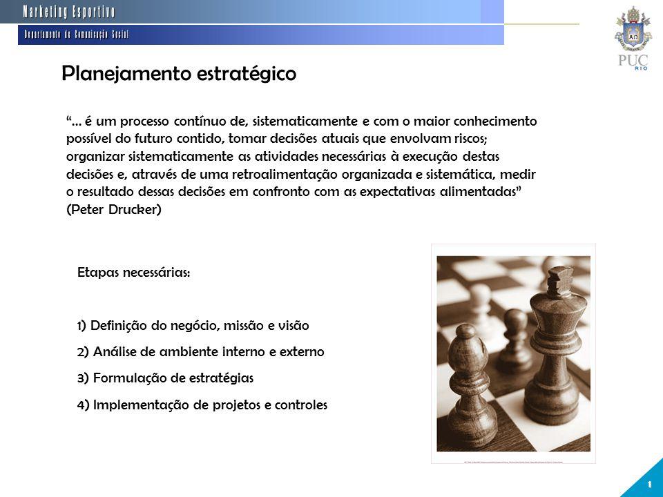 """Planejamento estratégico 1 """"... é um processo contínuo de, sistematicamente e com o maior conhecimento possível do futuro contido, tomar decisões atua"""
