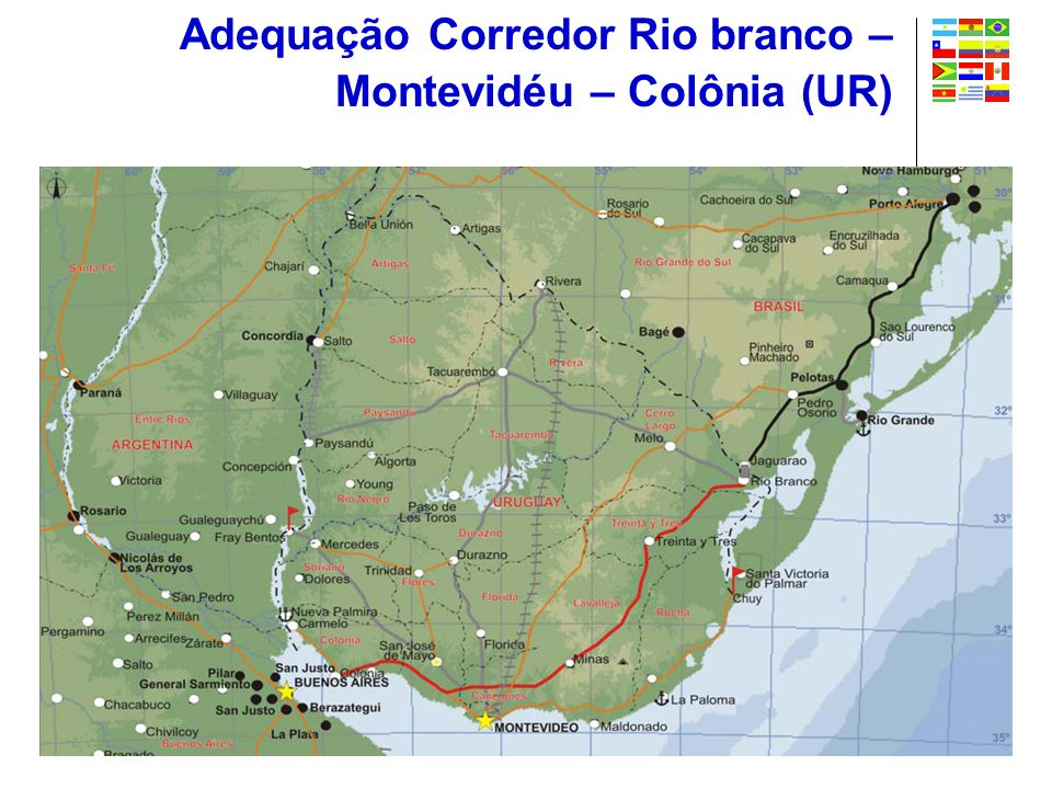 Adequação Corredor Rio branco – Montevidéu – Colônia (UR)