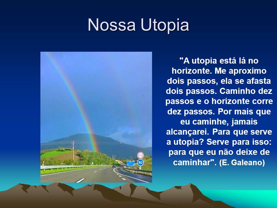 Nossa Utopia A utopia está lá no horizonte.Me aproximo dois passos, ela se afasta dois passos.
