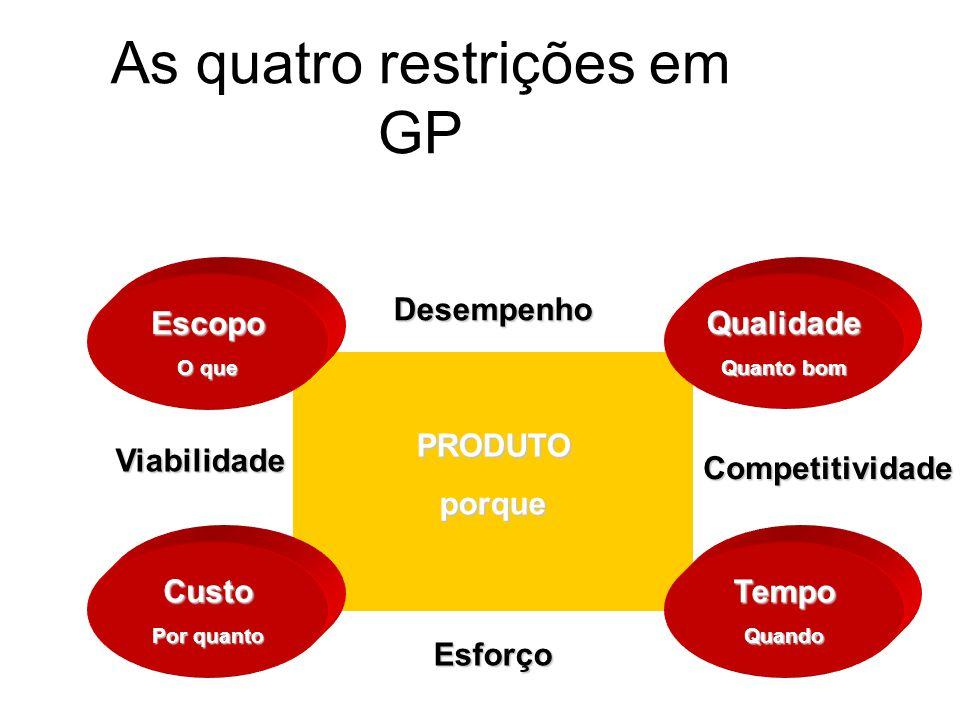 Por que algumas empresas não se utilizam de GP .A organização utilizou a GP de modo inadequado.