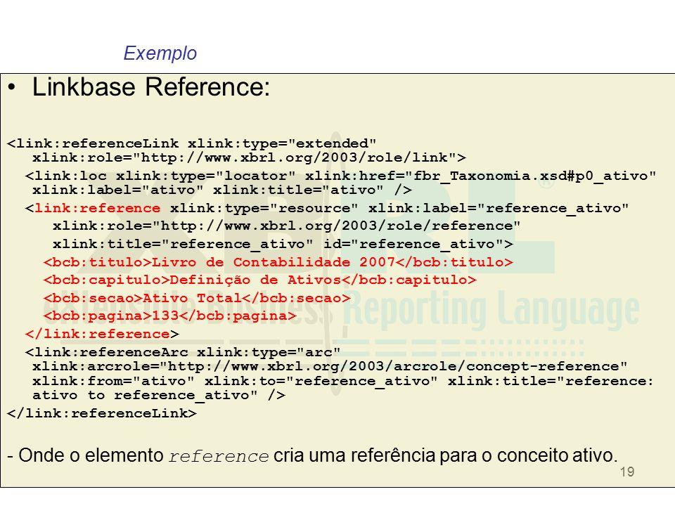 19 Linkbase Reference: <link:reference xlink:type=