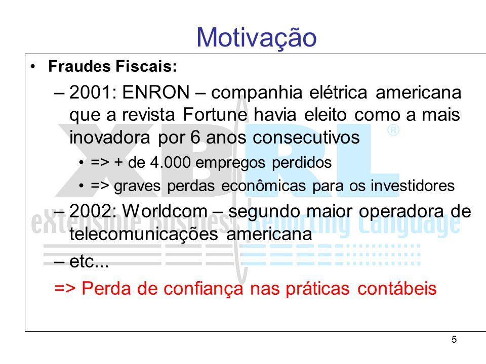 5 Fraudes Fiscais: –2001: ENRON – companhia elétrica americana que a revista Fortune havia eleito como a mais inovadora por 6 anos consecutivos => + d