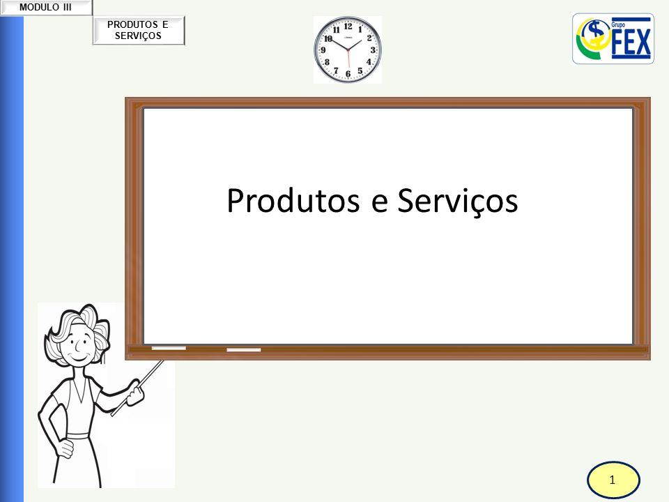 1 PRODUTOS E SERVIÇOS MODULO III Correspondente Bancário Produtos e Serviços