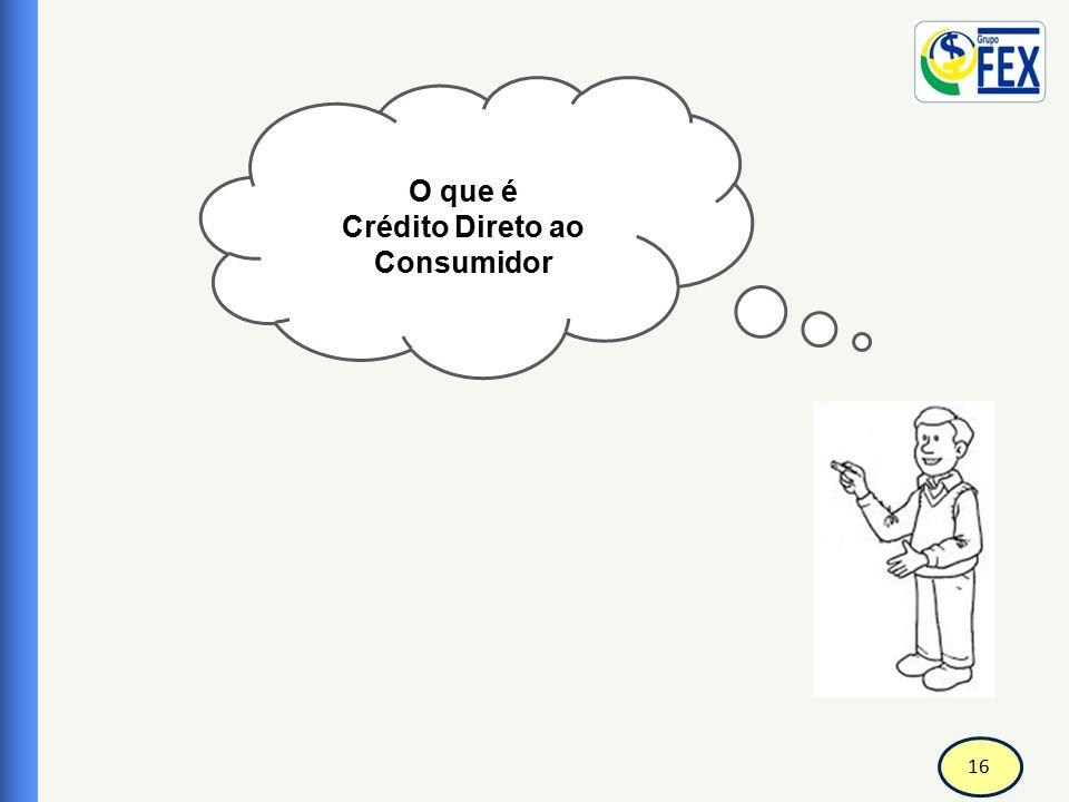 17 Correspondente Bancário Crédito Direto ao Consumidor-CDC CDC é um financiamento destinado a aquisição de bens duráveis e serviços.
