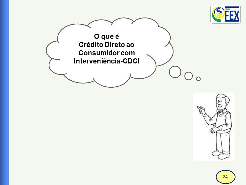 25 Correspondente Bancário Crédito Direto ao Consumidor com Interveniência CDCI  O CDC-I (Crédito Direto ao Consumidor com Interveniência) é um financiamento destinado a empresas comerciais para concessão de crédito aos seus consumidores finais.