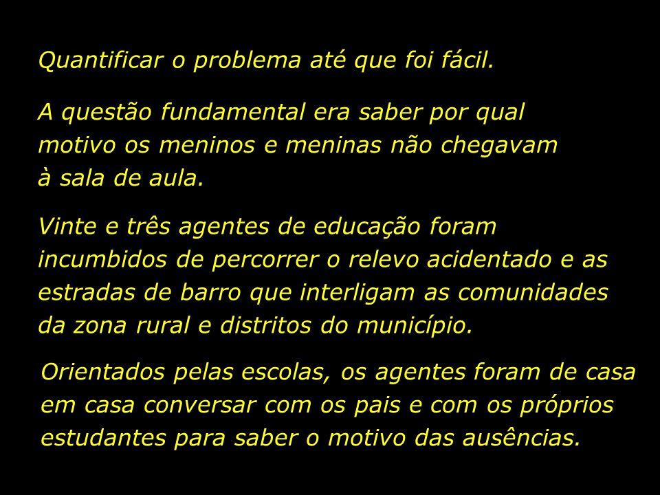 Cidade de Orobó, Zona da Mata, sertão pernambucano, 2007 1.127 alunos matriculados no ensino infantil da rede municipal. Porém, um levantamento realiz