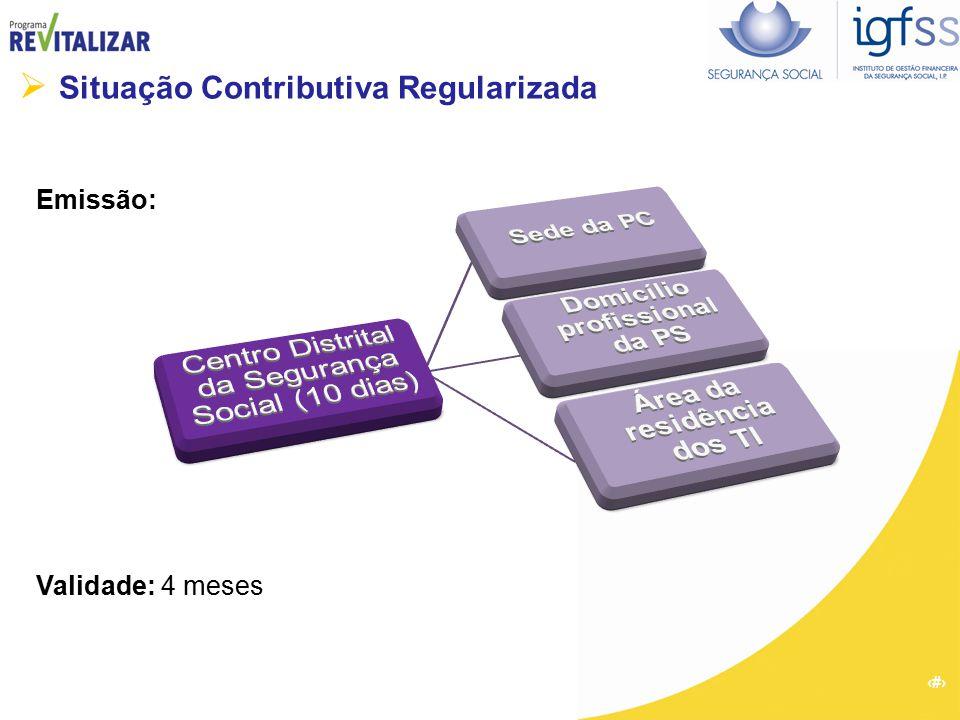 54  Situação Contributiva Regularizada Emissão: Validade: 4 meses