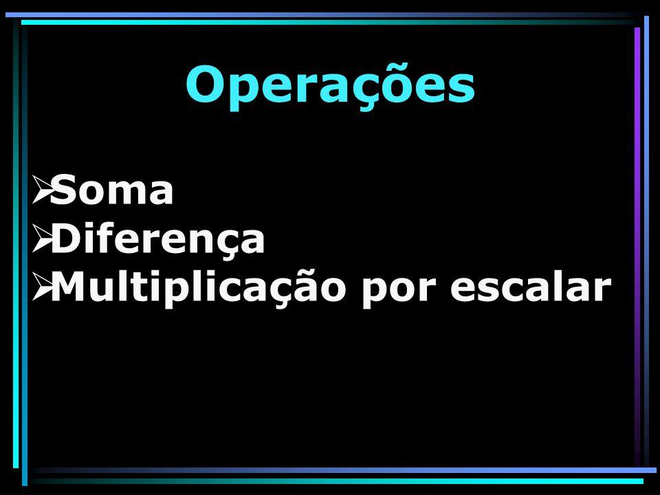 SSoma DDiferença MMultiplicação por escalar Operações