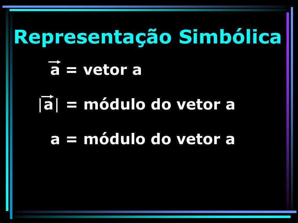 Representação Simbólica a = vetor a |a| = módulo do vetor a a = módulo do vetor a